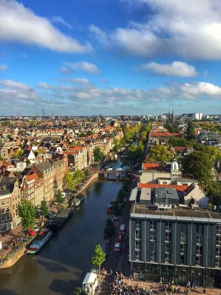 Fotos de Amsterdam, vistas desde la Westerkerk