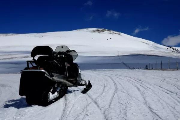 Fotos de Andorra, moto de nieve en Naturlandia