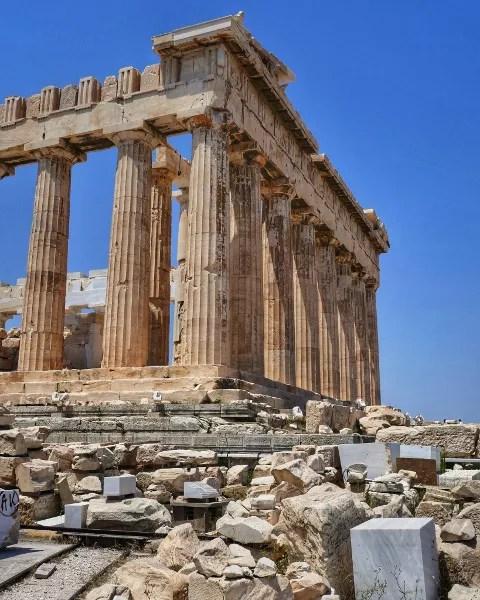 Fotos de Atenas en Grecia, Partenon vertical