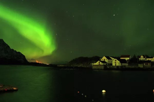 Fotos de Auroras Boreales en Noruega, Henningsvar en Lofoten
