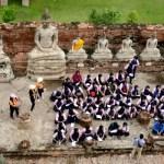 Fotos de Ayutthaya en Tailandia, niños tailandeses
