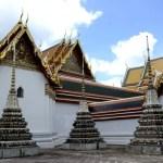 Fotos de Bangkok, Wat Pho estupas y tejados