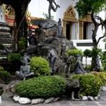 Fotos de Bangkok, Wat Pho jardin