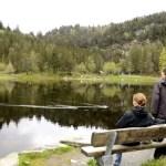 Fotos de Bergen, Monte Floyen lago