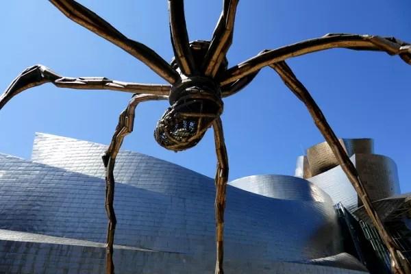 Fotos de Bilbao, araña Museo Guggenheim