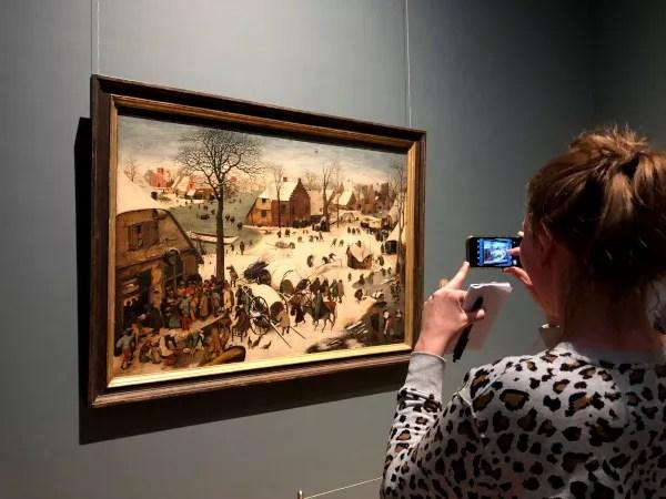 Fotos de Bruselas, obras de Bruegel en los Museos Reales de Bellas Artes