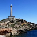 Fotos de Cabo de Palos en Murcia, faro vertical