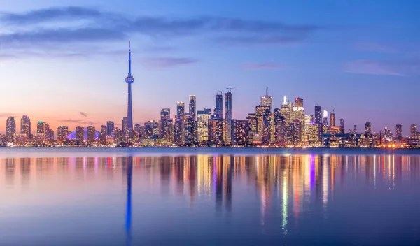 Fotos de Canada, Toronto al atardecer