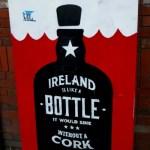 Fotos de Cork en Irlanda, cartel divertido