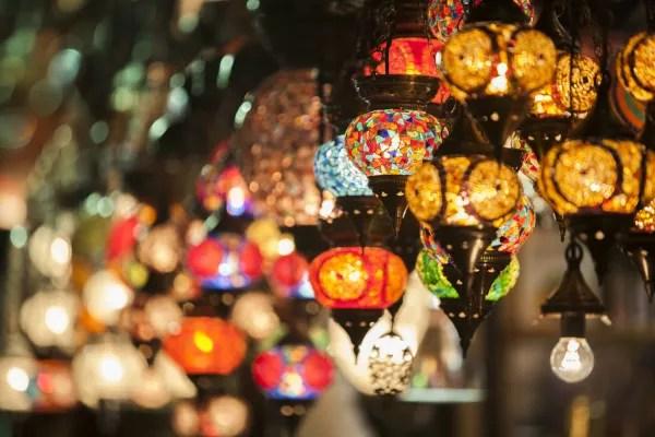 Fotos de Estambul en Turquía, lamparas del Gran Bazar