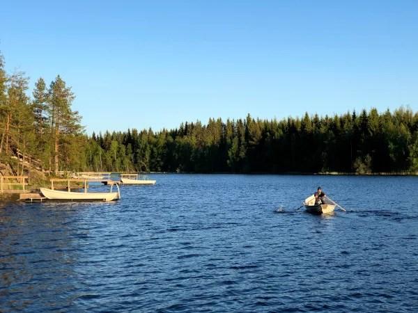 Fotos de Finlandia, wild marman en la barca