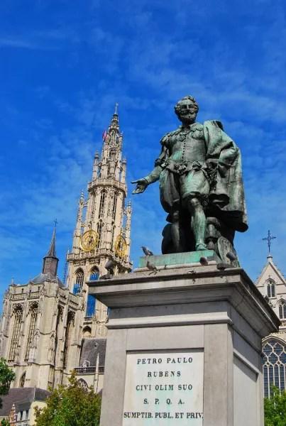Fotos de Flandes, estatua de Rubens en Amberes