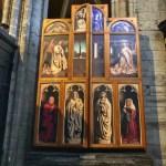 Fotos de Gante en Bélgica, replica Adoración del Cordero Místico cerrado