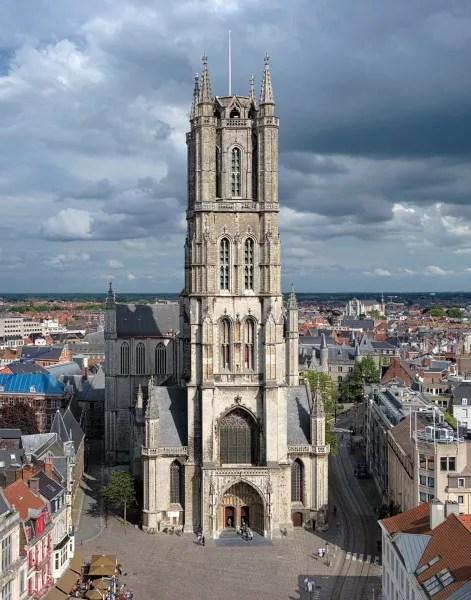 Fotos de Gante en Bélgica, torre de la Catedral de San Bavon