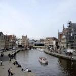 Fotos de Gante en Flandes, Graslei desde arriba