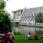 Fotos de Gante en Flandes, ambiente universitario