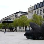 Fotos de Gante en Flandes, escultura hojas