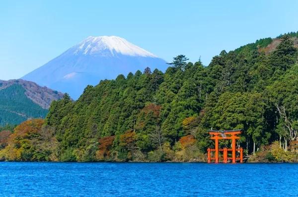 Fotos de Hakone en Japón, Lago Ashi y Monte Fuji