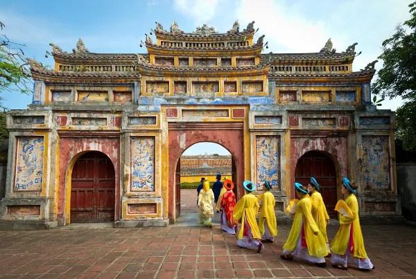 Fotos de Hue en Vietnam, entrada a la Ciudadela