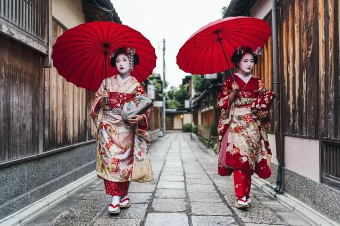 Fotos de Kioto en Japón, maikos y geishas en Gion