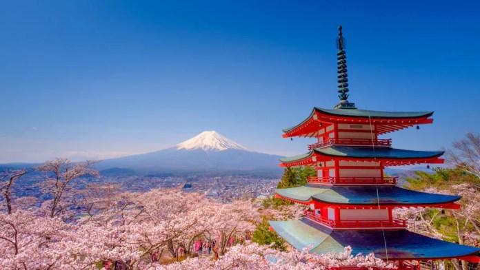 Fotos de Kioto en Japon, monte Fuji desde la pagoda Chureito