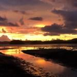 Fotos de Krabi en Tailandia, atardecer en playa Ao Nang