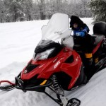 Fotos de Laponia Finlandesa, Oriol en la moto de nieve