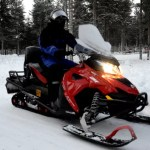 Fotos de Laponia Finlandesa, excursion de motos de nieve