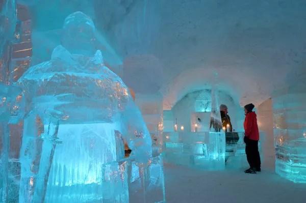 Fotos de Laponia Noruega, dormir en un hotel de hielo