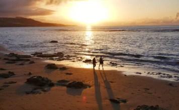Fotos de Las Palmas de Gran Canaria, atardecer playa de Las Canteras