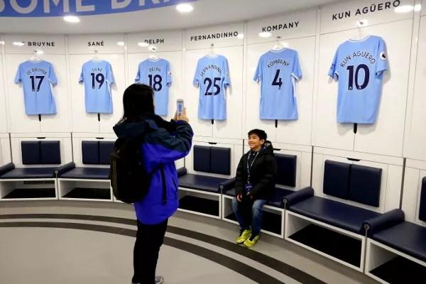 Fotos de Manchester, vestuario Manchester City