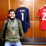 Fotos de Manchester,Pau vestuario Manchester United