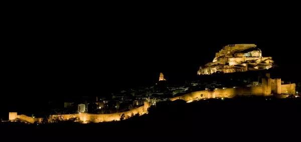 Fotos de Morella, las murallas de noche