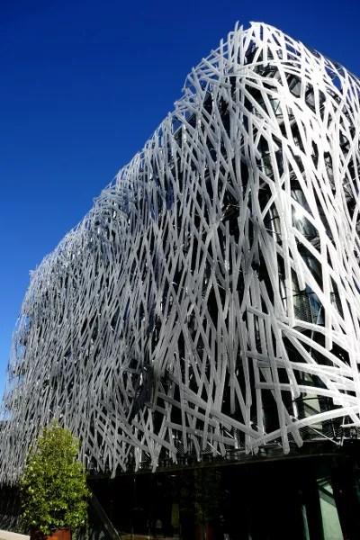 Fotos de Nantes en Francia, edificio contemporaneo