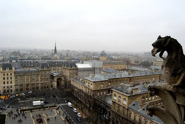 Fotos de Notre Dame de Paris, gargola y vistas