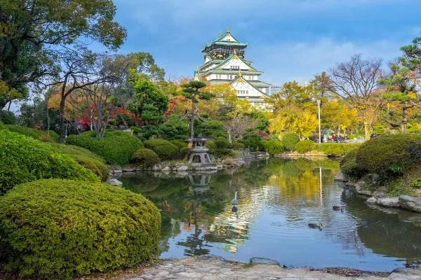 Fotos de Osaka en Japon, castillo de Osaka