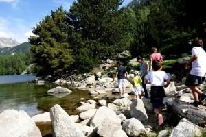 Fotos de Pirineo de Lleida, Vero y ninos piedras en Aiguestortes