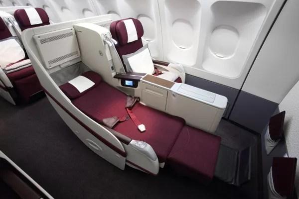 Fotos de Qatar Airways, asientos de Businnes