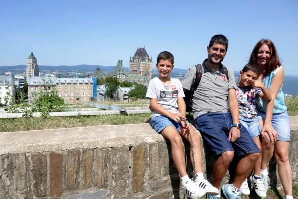 Fotos de Quebec en Canada, Pau, Vero, Teo y Oriol