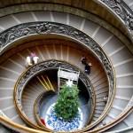 Fotos de Roma, escaleras de los Museos Vaticanos