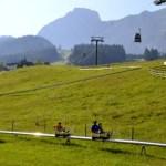 Fotos de Salzburgo en Austria, trineo de verano de Abtenau