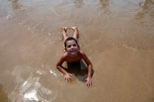 Fotos de San Sebastián, Oriol en la playa de la Concha