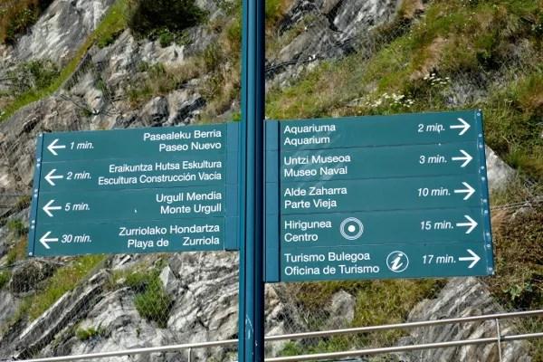 Fotos de San Sebastián, indicaciones