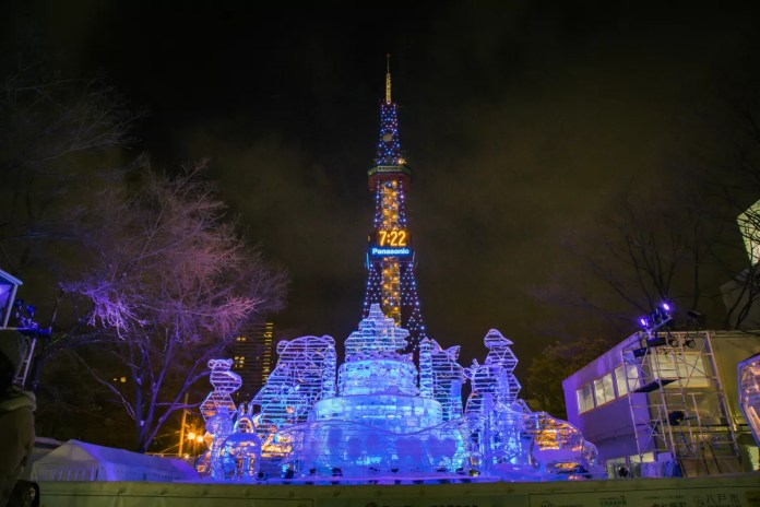 Fotos de Sapporo en Japon, festival de nieve en el Odori Park