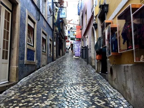 Fotos de Sintra en Portugal, calles adoquinadas