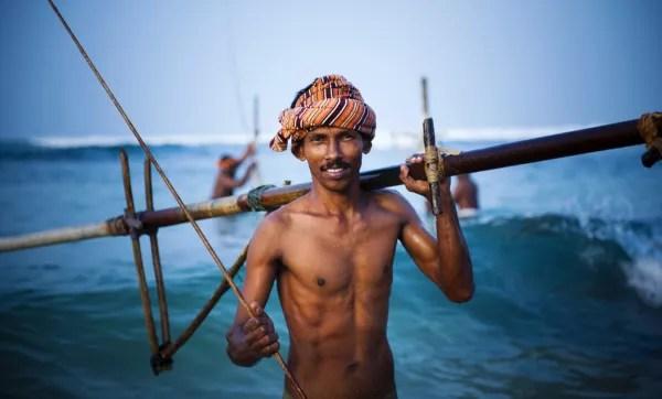 Fotos de Sri Lanka, pescadores zancudos