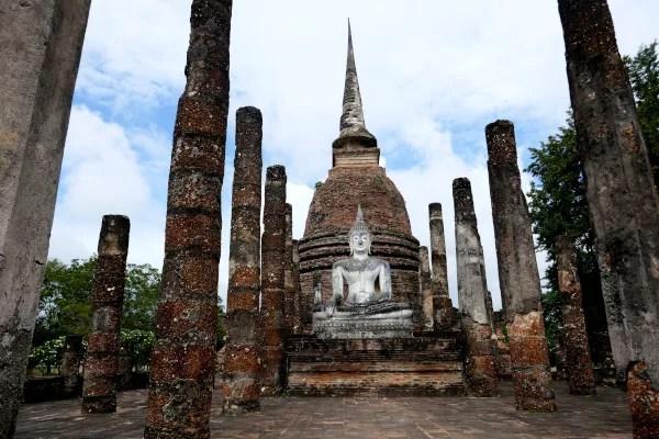 Fotos de Sukhothai en Tailandia, Buda y pilares