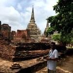 Fotos de Tailandia, Pau con el Fitbit Blaze en Ayutthaya