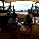Fotos de Tailandia - crucero desde Ayutthaya, Teo y Oriol