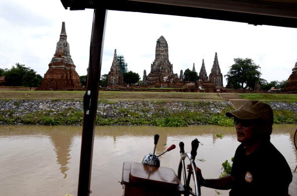 Fotos de Tailandia - crucero desde Ayutthaya, salimos